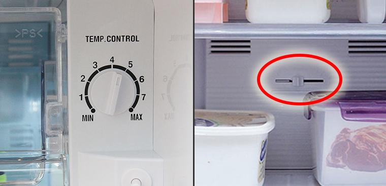 Kiểm tra nút điều chỉnh nhiệt độ