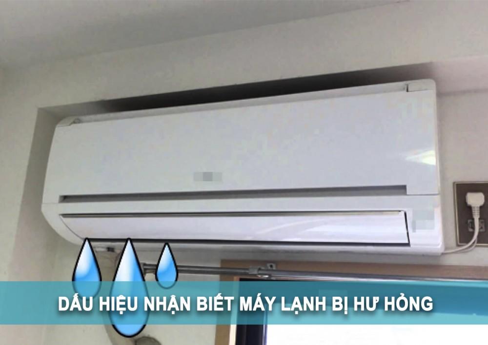 dấu hiệu nhận biết máy lạnh hư hỏng