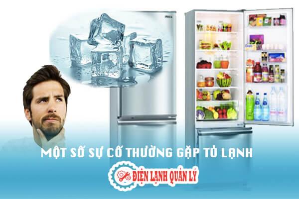 sự cố thường gặp tủ lạnh