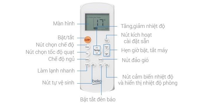 Cách Sử Dụng Remote Máy Lạnh Beko Đơn Giản Hiệu Quả