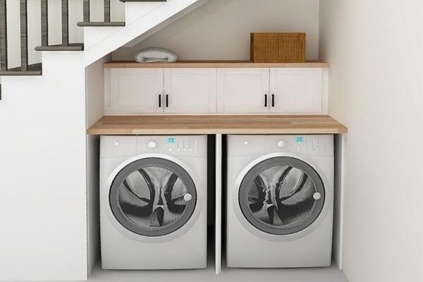 nên đặt máy giặt ở đâu