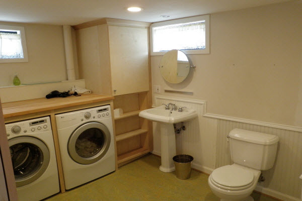 thiết kế chổ để máy giặt